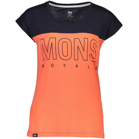Mons Royale W's Phoenix Cap MR Box OL T-Shirt Coral/9 Iron